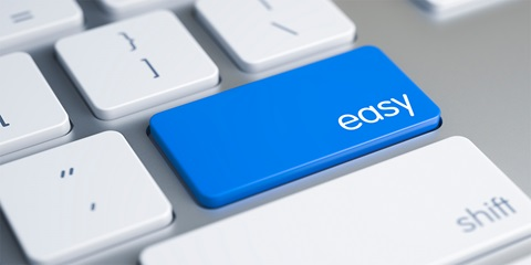 easy button on a computer