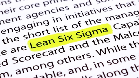 Lean six sigma highlighted in yellow