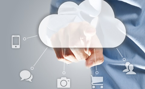 cloud with digital icons